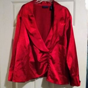 Metaphor Red Blouse